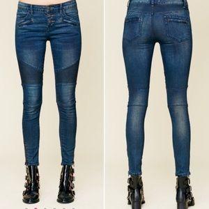 Free People Moto Skinny Jeans